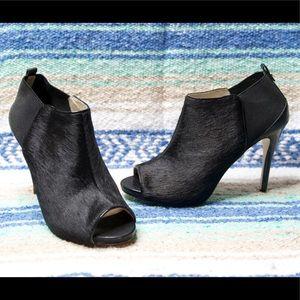Michael Kors Black Calf Hair Ankle Booties